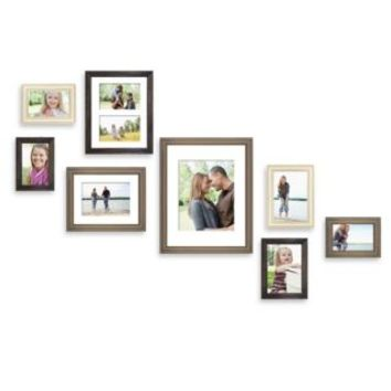 Wall Solution 8-Piece Gallery Frame Set in Assorted Finishes and Sizes