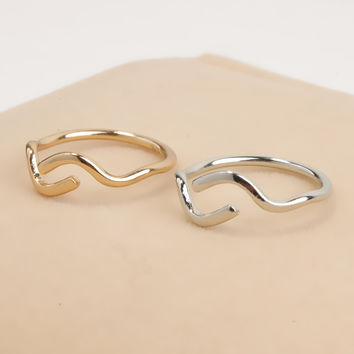 Jewelry Shiny Gift Stylish New Arrival Accessory Simple Design Abstract Ring [4918839044]