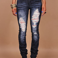 London Falls Skinny Denim - Skinny Denim at Pinkice.com