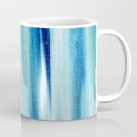 Beach Blues Absract Mug by Allyson Johnson | Society6