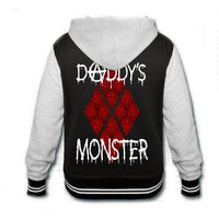 Harley Quinn Daddy's Monster Varsity hooded jacket