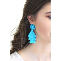 Milo Bead & Fringe Tassel Earrings