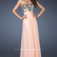 Embellished Strapless Sweetheart Gown