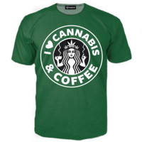 Cannabis and Coffee Tee