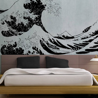 Japanese Great Wave Hokusai LARGE - uBer Decals Wall Decal Vinyl Decor Art Sticker Removable Mural Modern A869