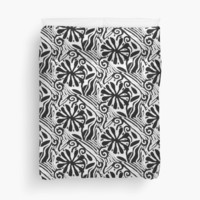 Black and White Tribal Abstract Design by pmelvinart