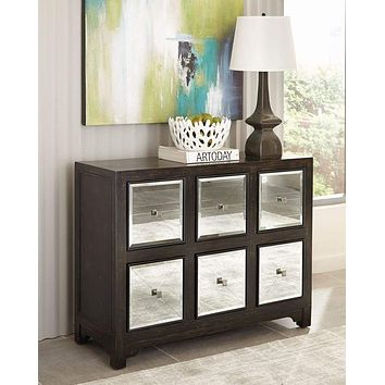 Contemporary Elegant Wooden Accent Cabinet,  Brown By Scott Living