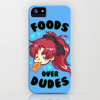 Foods Over Dudes iPhone & iPod Case by LookHUMAN