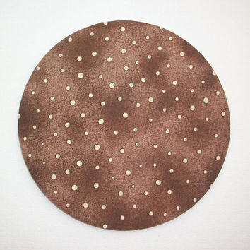 Mouse Pad mousepad / Mat - round brown gold tan dots-  Computer Accessories decor Desk Coworker Gifts Office cubical