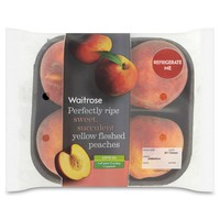 Perfectly Ripe Yellow Peaches Waitrose at Ocado