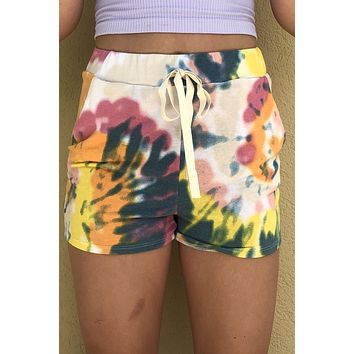 By The Pier Shorts- Pink Multi