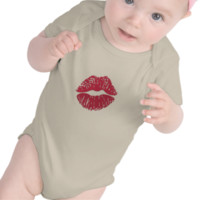 Kiss Mark Emoji Baby Bodysuit