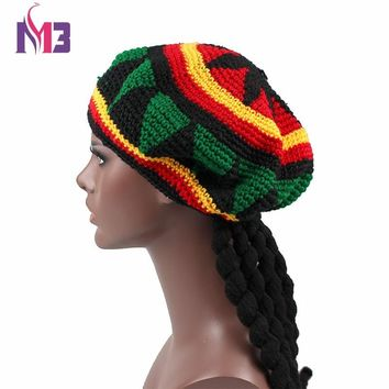 c90d01003af New Casual Men Women Rasta Hat Fancy Dress Party Hippie Handmade