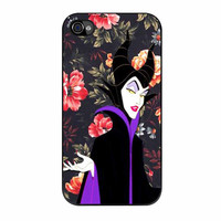 Malficient Disney Floral Vintage iPhone 4s Case