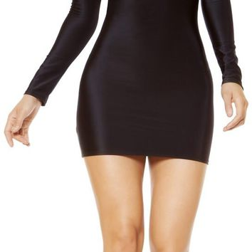 Roma RM-3367 Bodycon Dress with Open Back Design