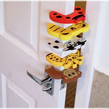 5pcs Baby Child Proofing Door Stoppers Finger Safety Guard [8322967361]