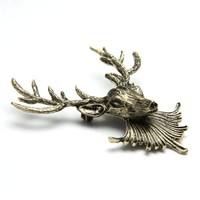 New Retro Punk Style Reindeer Collar Shirt Blouse Clip Tips Brooch Vintage Gold,FREE SHIPPING-in Brooches from Jewelry on Aliexpress.com | Alibaba Group