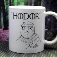 Hodor Hodor Funny Game of Thrones Quote Mug - A Song of Ice And Fire - ASOIAF