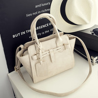 Vintage White Leather Crossbody Handbag Shoulder Bag