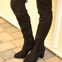 Walking Tall Over-The-Knee Boots- Black
