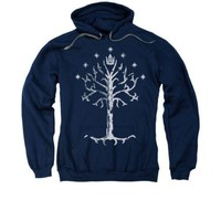 The Lord Of The Rings Movie Tree Of Gondor Licensed Adult Pullover Hoodie