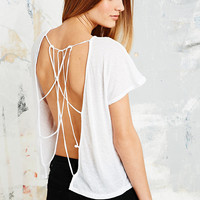 Sparkle & Fade Lattice Back Tee - Urban Outfitters