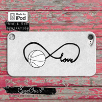 Basketball Love Infinity Symbol Cute Tumblr Inspired Case iPod Touch 4th Generation or iPod Touch 5th Generation Rubber or Plastic Case