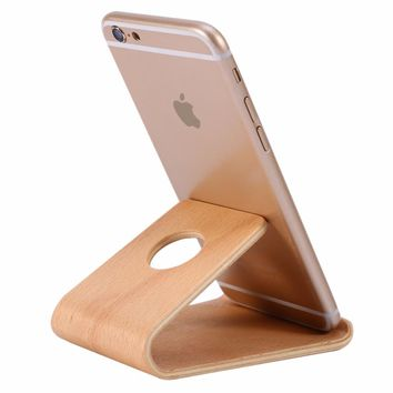 Universal Wooden Bamboo Mobile Phone Stand Holder Lightweight Slim Cellphone Stand for iPhone for Samsung for Xiaomi