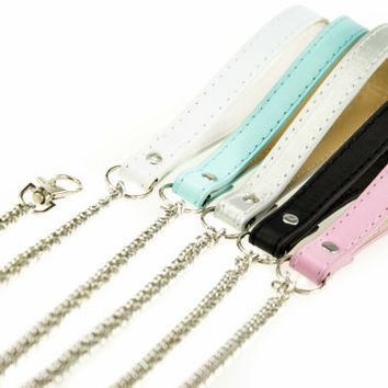 Gold or Silver Chain LEASH lead any colour bdsm leash ,fetish collar,kitten play collar  pet play, D/s, slave collar, Kittenplay, mature