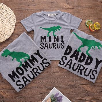 Mommy Saurus. Mini Saurus. Daddy Saurus. Family Matching Shirts - Baby Kid Child Toddler