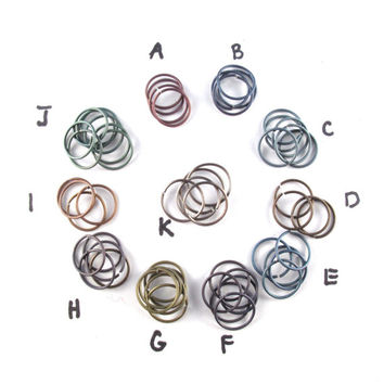 small TITANIUM  HOOP EARRING -  cartilage ring -  piercing - 12mm 22 gauge hoop -  septum ring -  nose rings - nickel free No.00E27