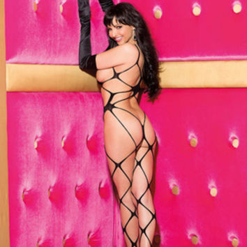 All Open Bodystocking  Black   One