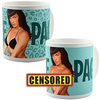 Bettie Page: Blue Color-Changing Mug