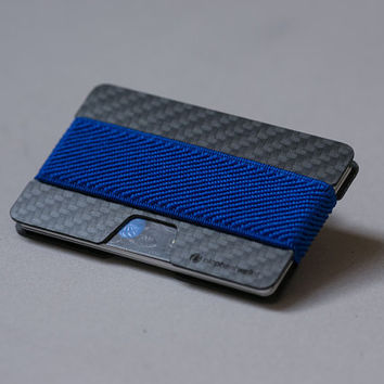 Carbon fiber wallet, credit card wallet, women and men wallet , minimalist slim, modern design NW