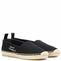 Embroidered cotton espadrilles