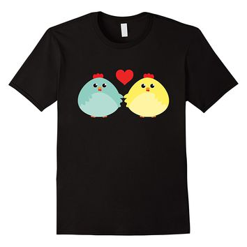 Cute Chicken Couple In Love T-Shirt