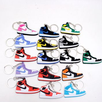 Cheap 1PCS/Lot 6*3CM Creative Cartoon Jordan 1 Generation Of Sports Shoes Metal Keychain Toys Kids Baby Toys Birthday Gifts