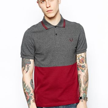 Fred Perry Laurel Wreath Polo with Block Colo