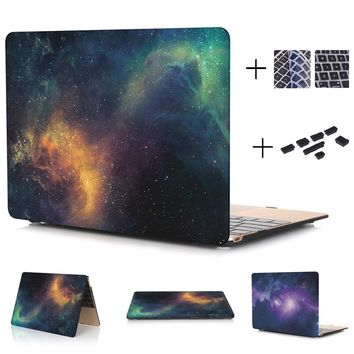 Starry Sky Series Hard Case Protector for MacBook 12 inch Air 13 inch Pro 13 Pro Retina 13 inch Touch Bar 13 With Keyboard Cover