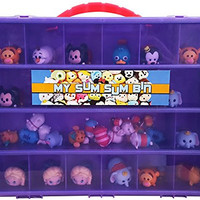 Tsum Tsum TM Compatible Organizer - My Sum Sum Bin Is The Perfect Tsum Tsum TM Compatible Storage Box- Fits Up to 50 Tsum Tsum Figures- Large Sturdy Case And Carrying Handle (Grape/Purple)