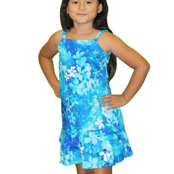 Girl's Hawaiian Dresses Plumeria Galaxy