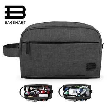 DKF4S BAGSMART Unisex Travel Toiletry Bag Waterproof Toiletry Kit Potable Dopp Kit Large Capacity Cosmetice Bags For Packing Make Up