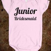 Supermarket: Junior Bridesmaid Baby Onesuit from Glamfoxx Shirts
