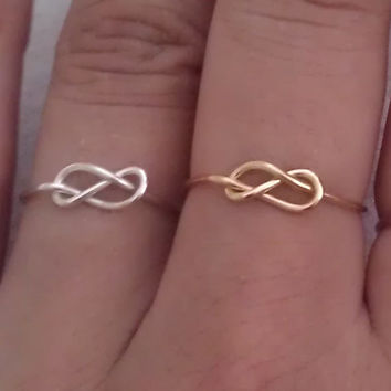 Infinity Knot Ring-Sterling silver or Gold-Filled