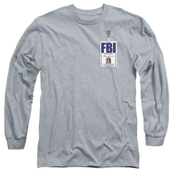 X Files - Scully Badge Long Sleeve Adult 18/1 Officially Licensed Shirt