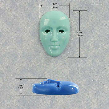 Face Mask Mold Silicone Mould Resin Polymer Clay Fondant Chocolate Wax (339)