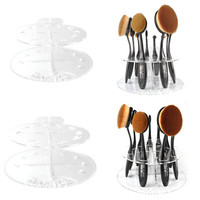 Beautiful Cosmetic Makeup Brushes Round Drying Holder Acrylic Portable Dry Brush Bracket Exquisite Makeup Tools