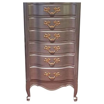 Pre-owned French Provincial Tall Boy Chest