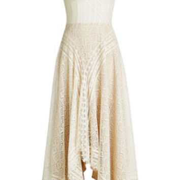 Lace Dress with Cotton - Alexander McQueen | WOMEN | US STYLEBOP.COM