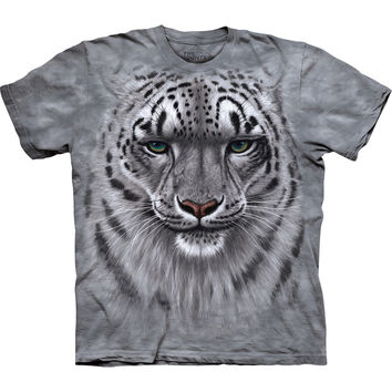 Snow Leopard Face Close-Up Kids T-Shirt